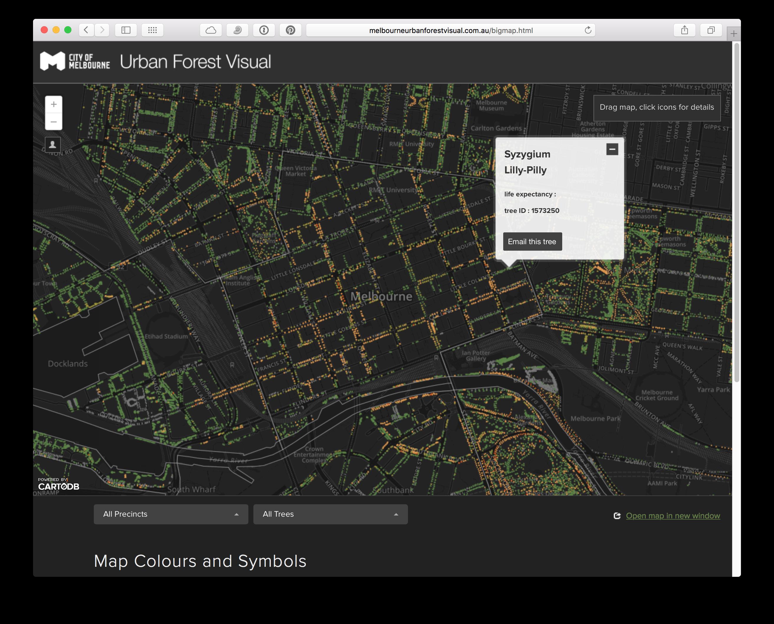 Melbourne Urban Forest Visual / Screenshot